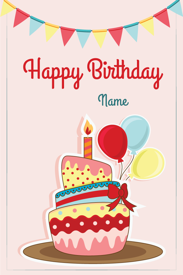 Personalized Happy Birthday Card With The Persons Name And Birth Date