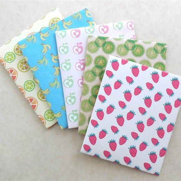 フルーツ模様ぽち袋 5枚セット カード・レター QK ハンドメイド通販・販売のCreema