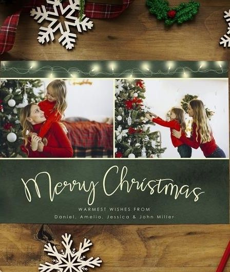 Christmas Card Template Instant Download 5x7 Holiday Card Etsy Christmas Card Template Holiday Card Template Christmas Photo Cards