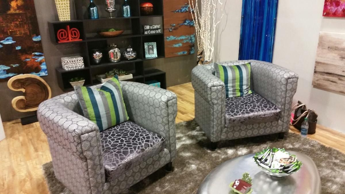 Custom upholstery work done by Upholstery Usa for the Fort Lauderdale Home Show