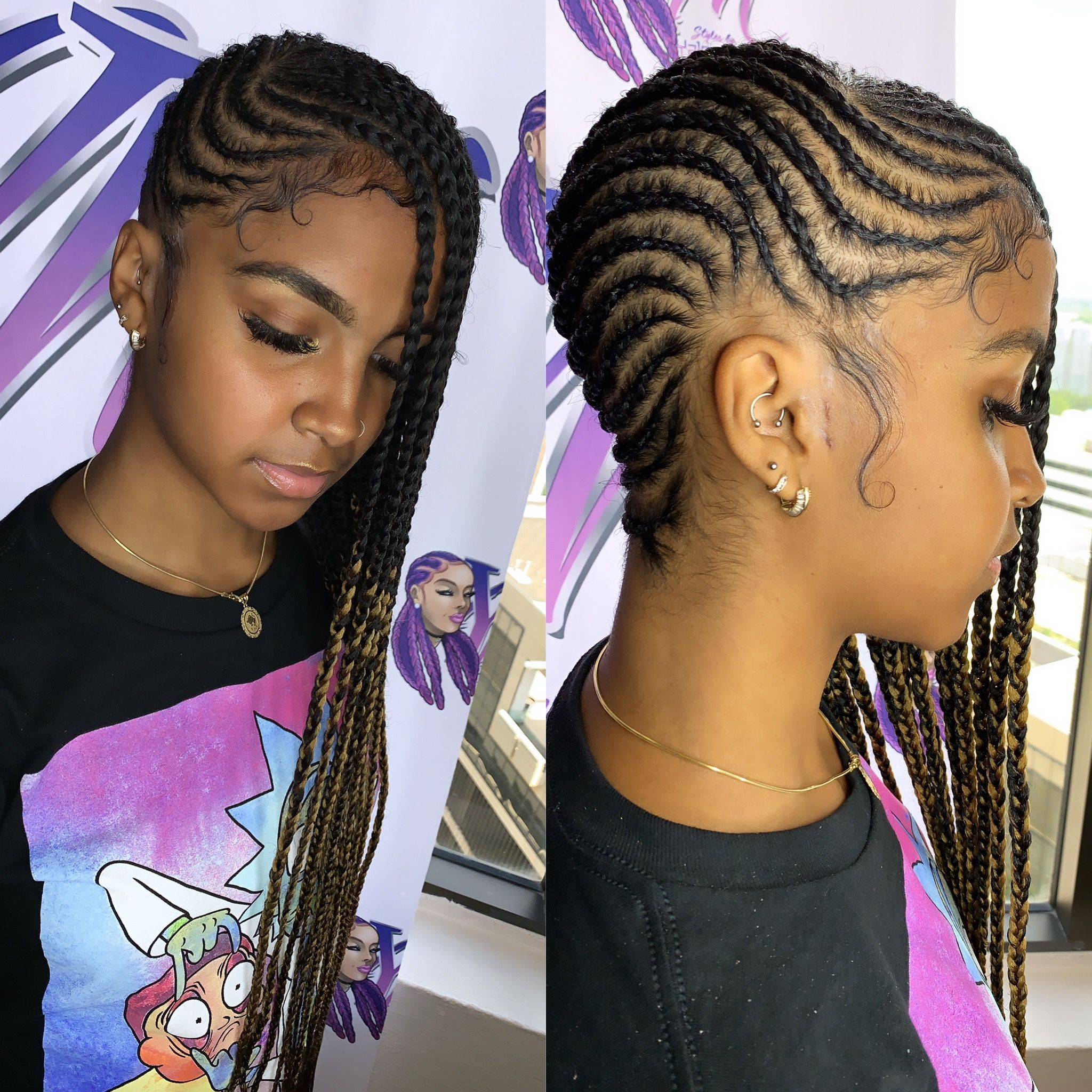 Lemonade Braids Braided Hairstyles Hair Styles Natural Hair Transitioning