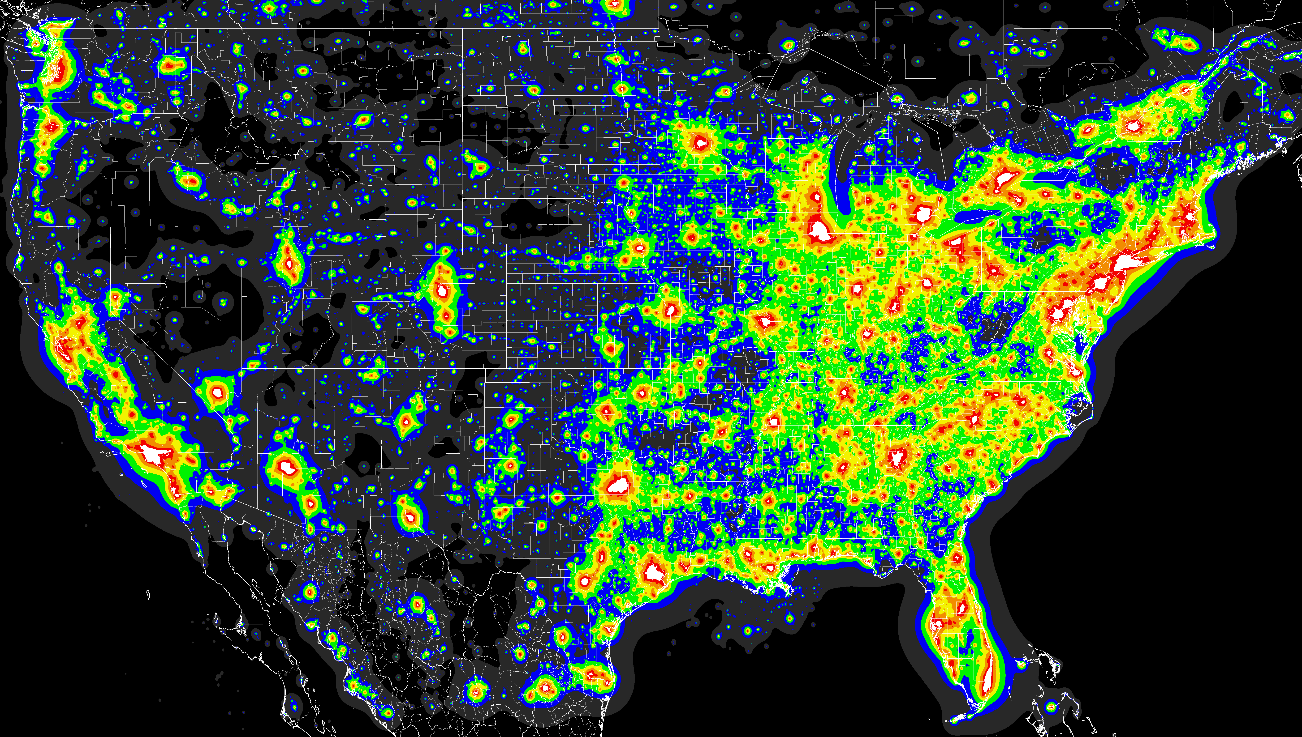 Light Pollution Map Us Light pollution in the US   Light pollution, Light pollution map