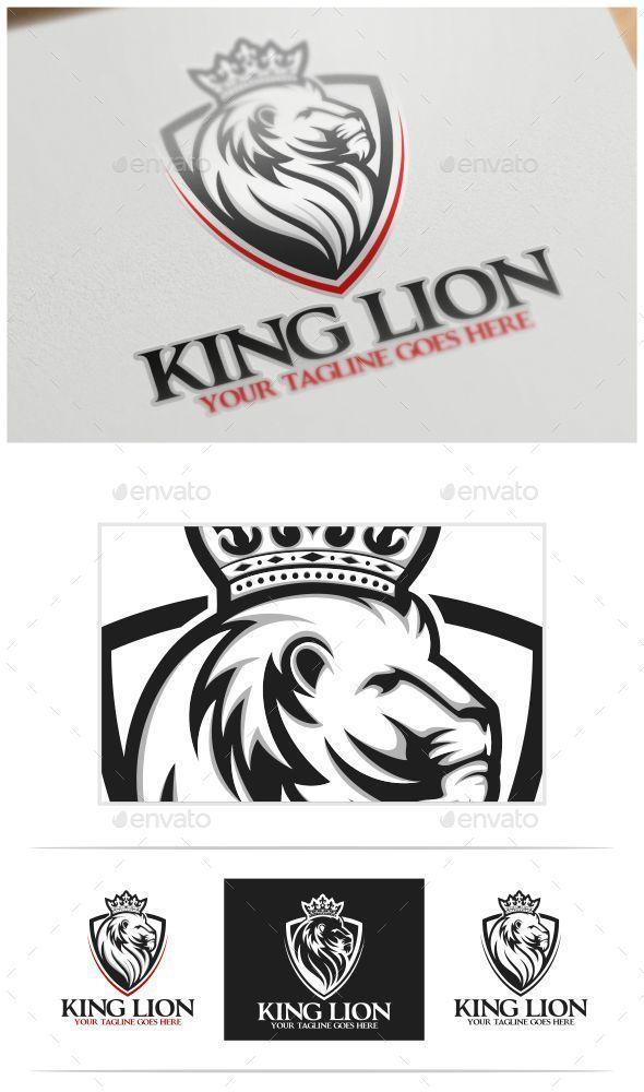 King Lion Logo Template | Lion logo, Logo templates and Ai illustrator