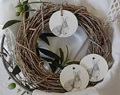 Wreath with clay tags