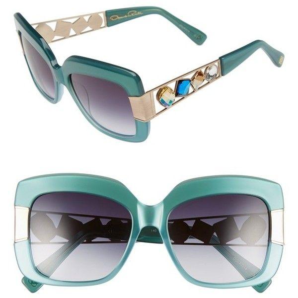 Oscar de la Renta 54mm Oversize Sunglasses ($480) ❤ liked