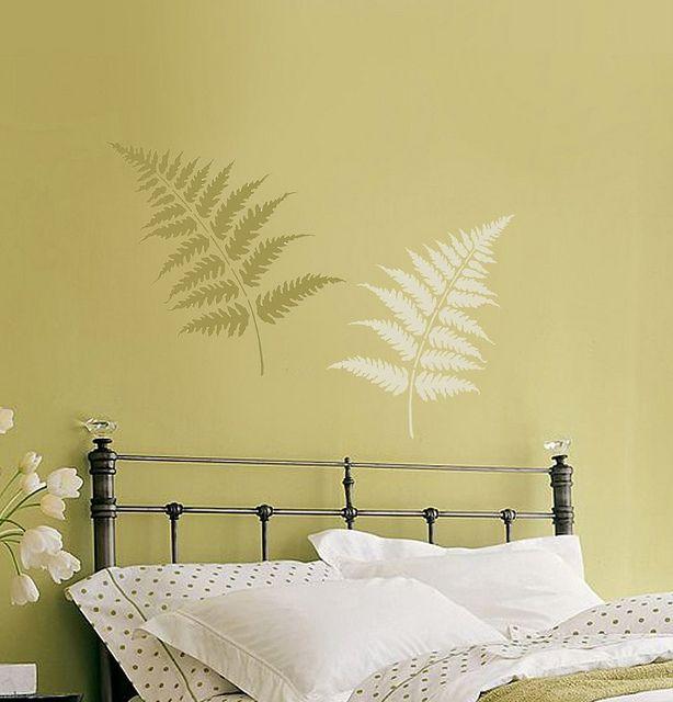 Wall Stencils Large Fern Leaves Stencils. Beautiful wall stencils by ...
