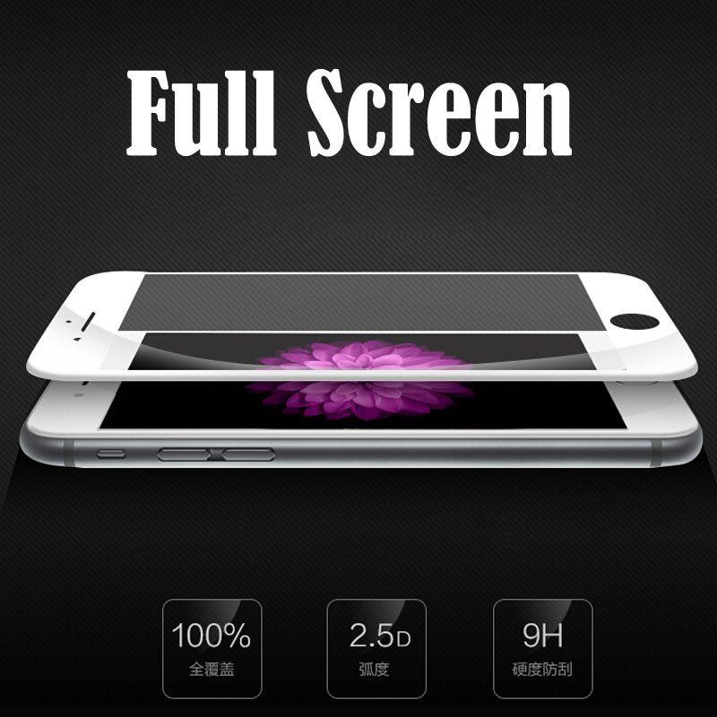 Für iphone 7 6 6 s plus se 5 5 s gehärtetem glas für iphone 6 6 s 7 plus se 5 5 s premium 2.5d 9 h full screen protector glas film