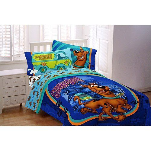Scooby Doo Full Comforter Sheet Set 5 Piece Bedding By Franco