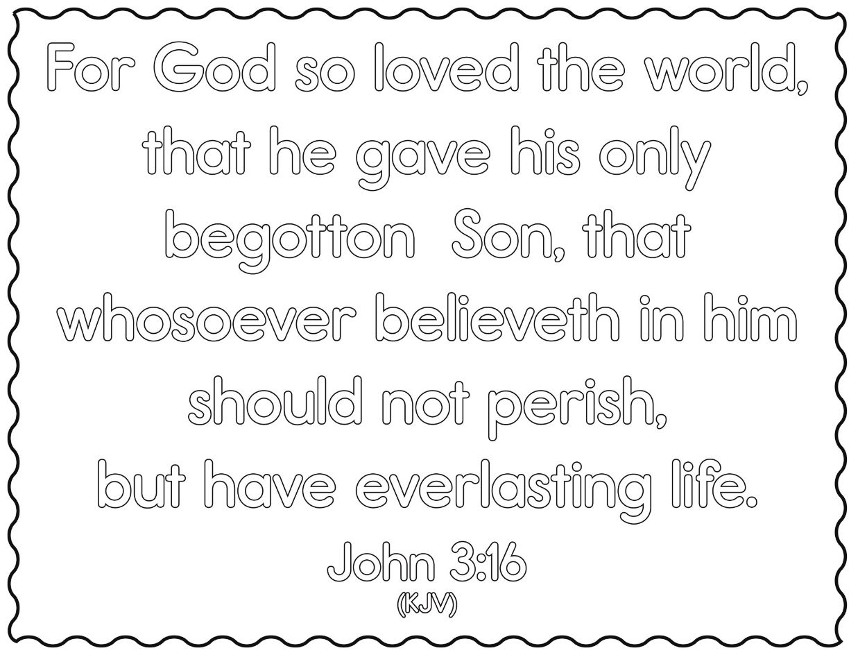 Explore Colouring Pages John 3 And More