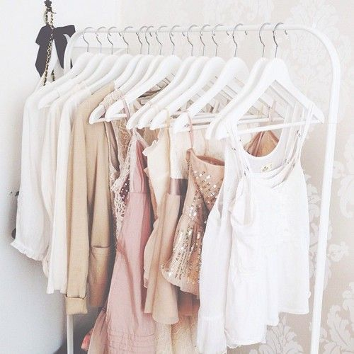This is a cute way to hang your clothes if you don't have ...