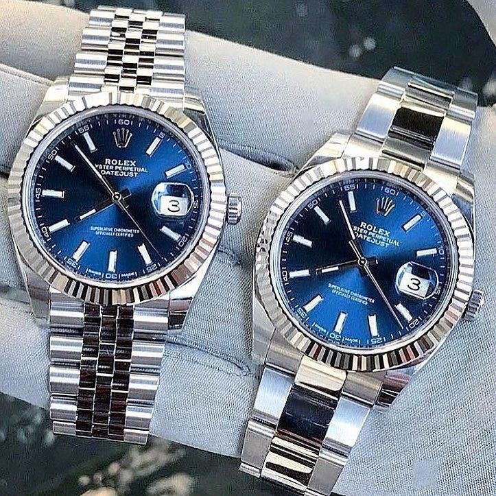 2,473 vind-ik-leuks, 68 reacties - Swiss Collector (@swisscollector) op Instagram: 'Monday Blues! Rolex Datejust on jubilee or oyster? ⛓ Credit: @passion_luxury_watches' #watchRolex #rolexwatches