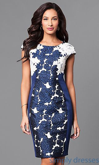 c9901e1a8b6 Floral Print Knee-Length Cap Sleeve Dress Day Wedding Outfit
