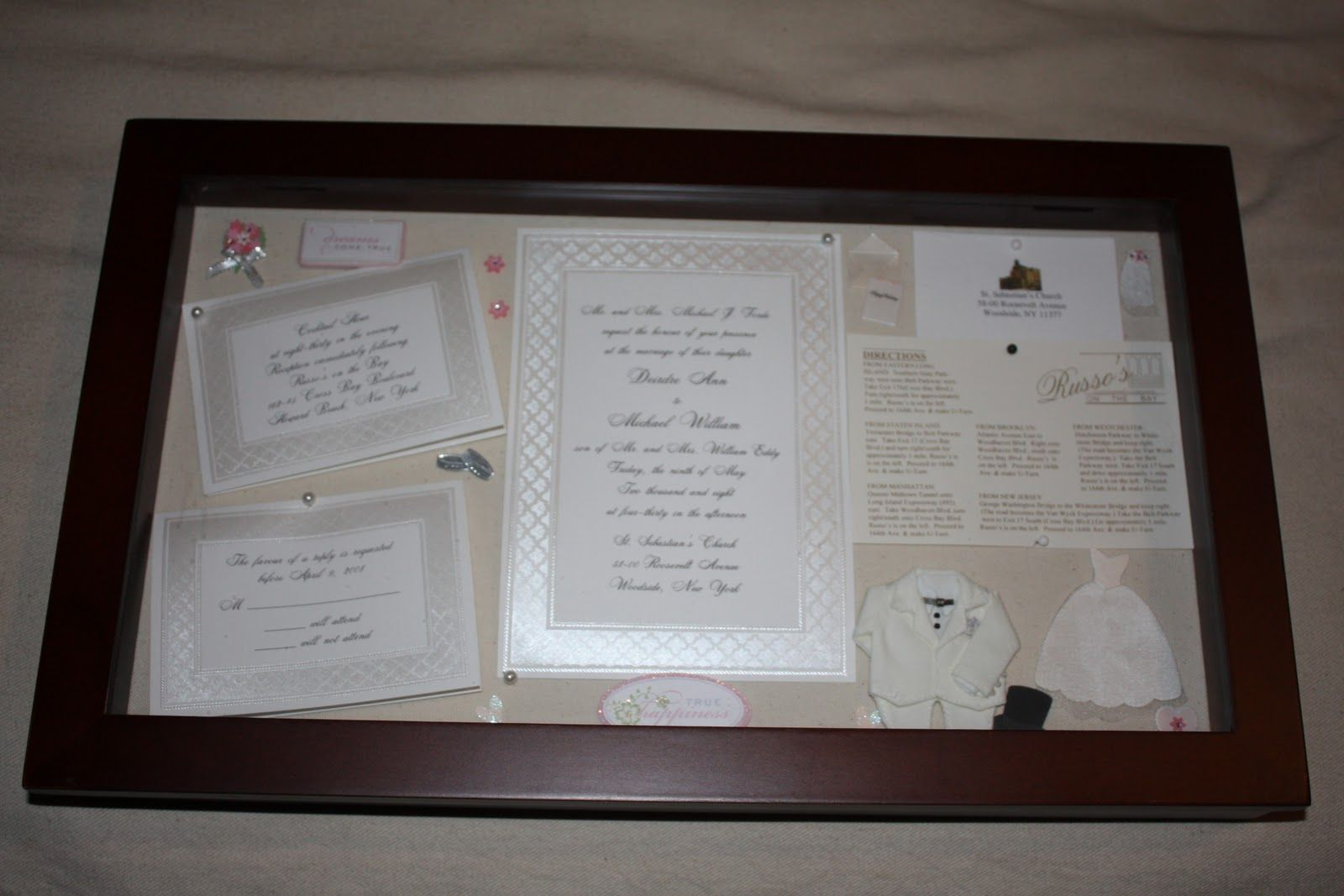 Wedding shadow box examples email this blogthis share to twitter