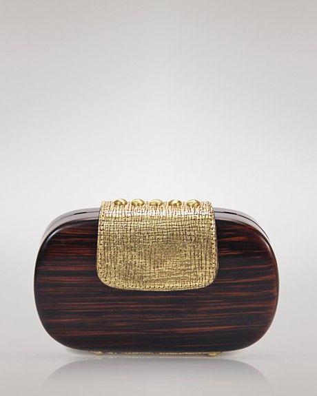 da62737e79 Kooba Bethenny Wood Clutch Kooba Handbags, Wooden Bag, Recycled Plastic Bags,  Discount Designer