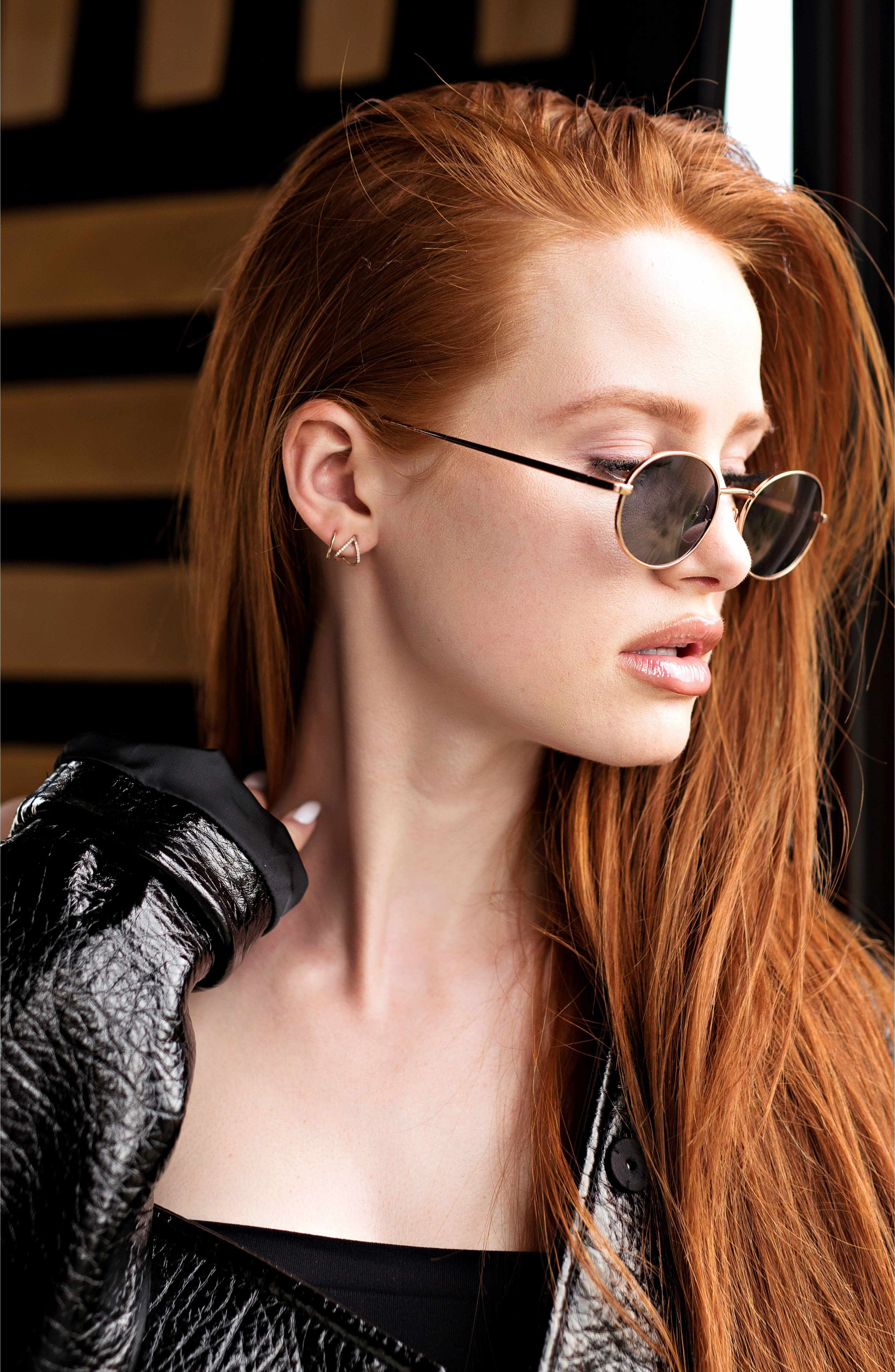 08511c7d8d Main Image - Privé Revaux x Madelaine Petsch The Candy 50mm Round Sunglasses