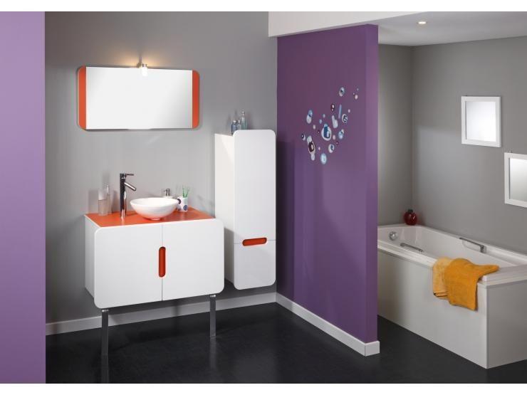 modèle armoire salle de bain orange | Idées pour bébé | Pinterest ...