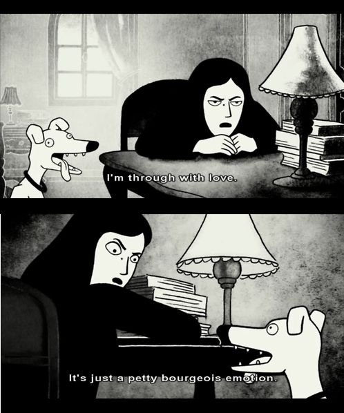 Love Is Just A Petty Bourgeois Emotion Serial Art Comic Book Characters Persepolis Book