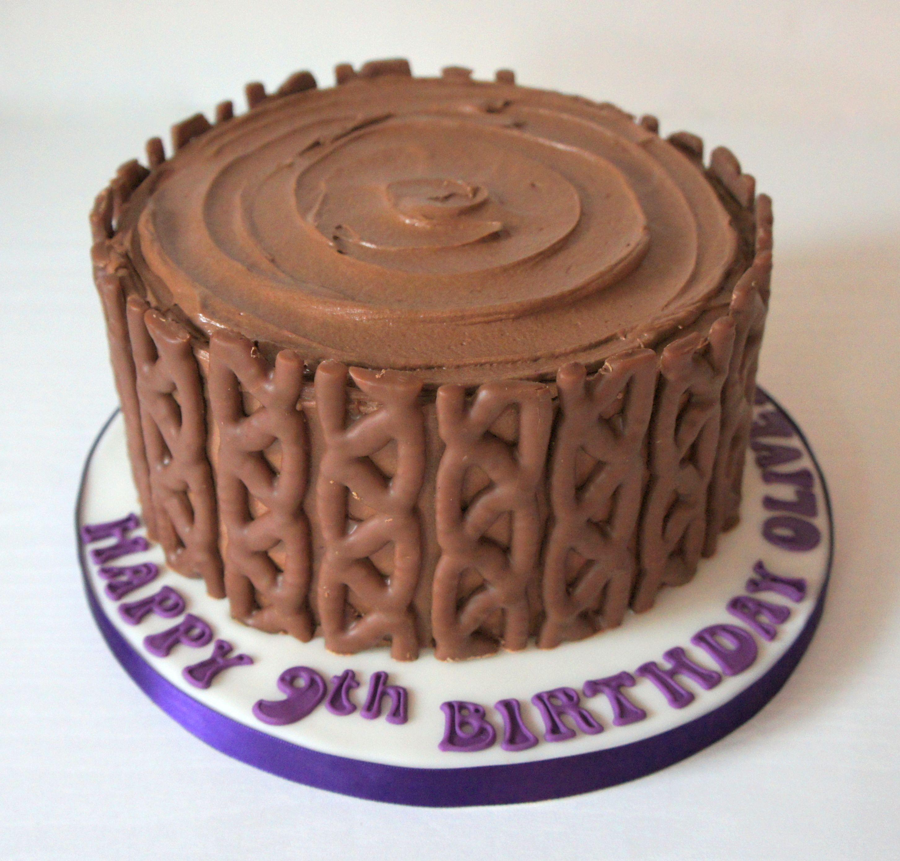 chocolate curly wurly birthday cake by wwwbyjojocouk F O O D