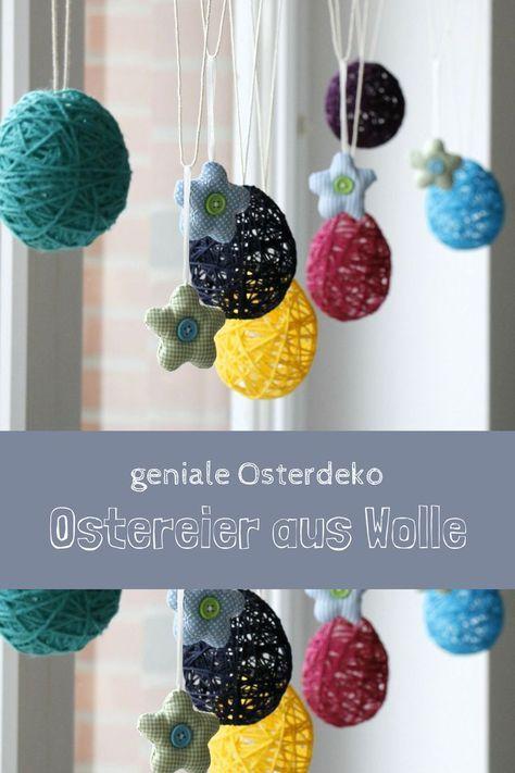 Oster-DIY-Idee: Ostereier aus Wolle – Lavendelblog