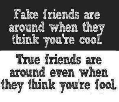 True Friend Quotes Amazing Fake Friends Are Around When They Thing You're Cooltrue Friends