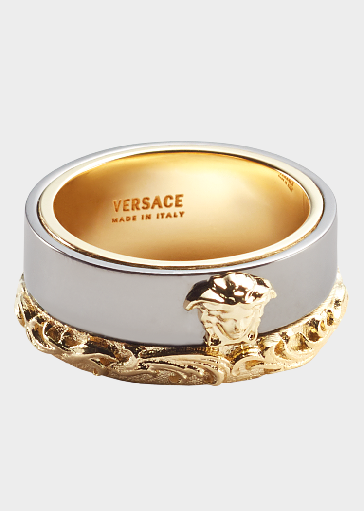 79927b4865168 Medusa Barocco Two-Tone Ring for Men | US Online Store in 2019 ...