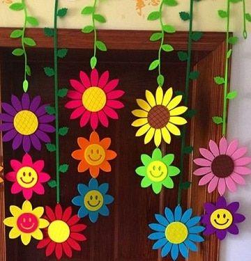 Resultado de imagen para decoracion de aulas de preescolar for Decoracion primavera manualidades