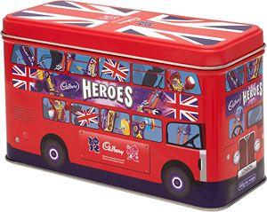Cadbury Heroes London Bus Tin 450g In 2020 Selection