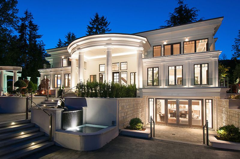 Mansion home estate opulent british properties manor 10 880 000 cad beautiful homes - Exterior painting vancouver property ...