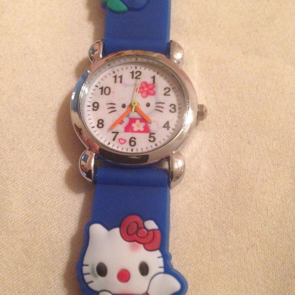 New Blue Hello Kitty Silicone Girls Watch 3-D #CartoonIdol ...