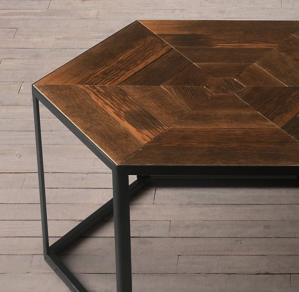 Interesting Coffee Table If We Have 3 Or 4 To Create Cooler Shape.  Hexagonal Azobe