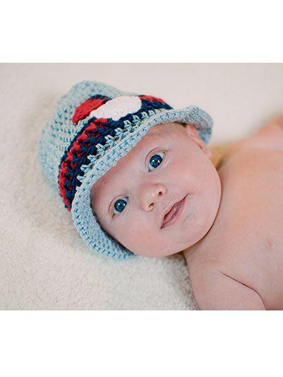 Crochet - Children & Baby Patterns - Hat Patterns - Little Man Sun ...