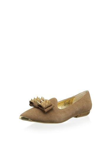 Modern Vice Women's Gwen Loafer with Studded Bow (Camel)