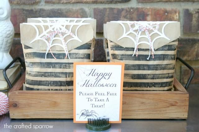 DIY Halloween Treat Bag  DIY Stamped Halloween Treat Bags DIY - halloween treat bag ideas