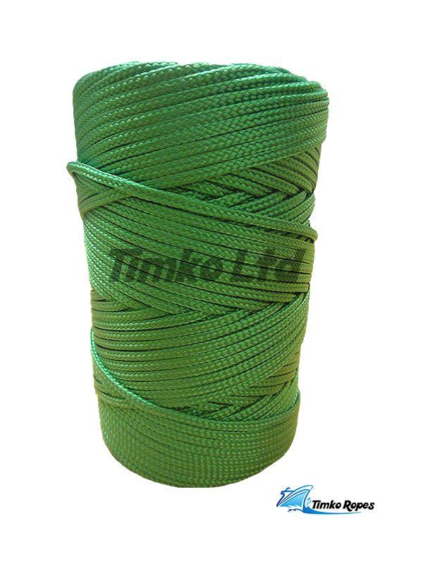 1 Kilo Spool 2mm Flat Braided Nylon Cord in Black,Green,Yellow,Red,Purple,Blue