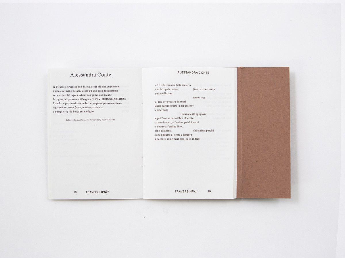 Parti Di Una Barca traversi + pordenonelegge - poetry, layout, edition, treviso
