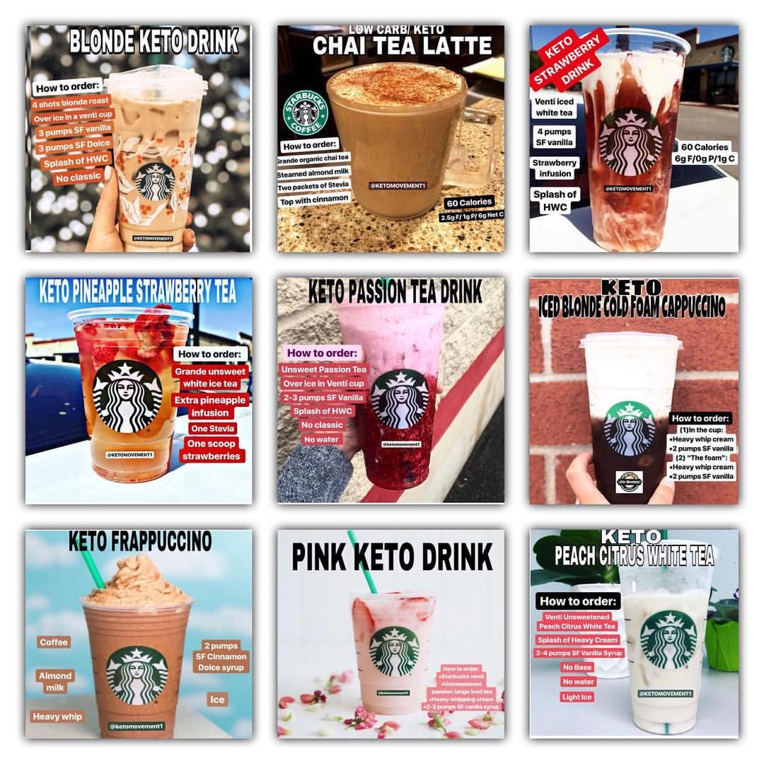 "Keto Movement on Instagram: ""�Check out this Ultimate Keto @Starbucks Drink Guide. For more details on these recipes, please go to @ketomovement1 previous posts on grid…"""