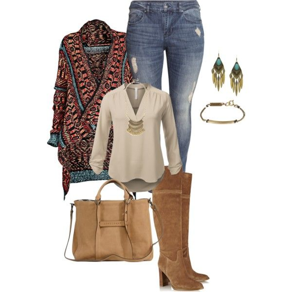 Plus Size Fall Winter Boho Chic By Kristie Payne On Polyvore Featuring J