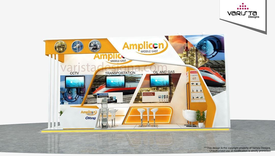 Exhibition Stand Proposal : Exhibition stand design proposal for amplicon at gitex exhibit