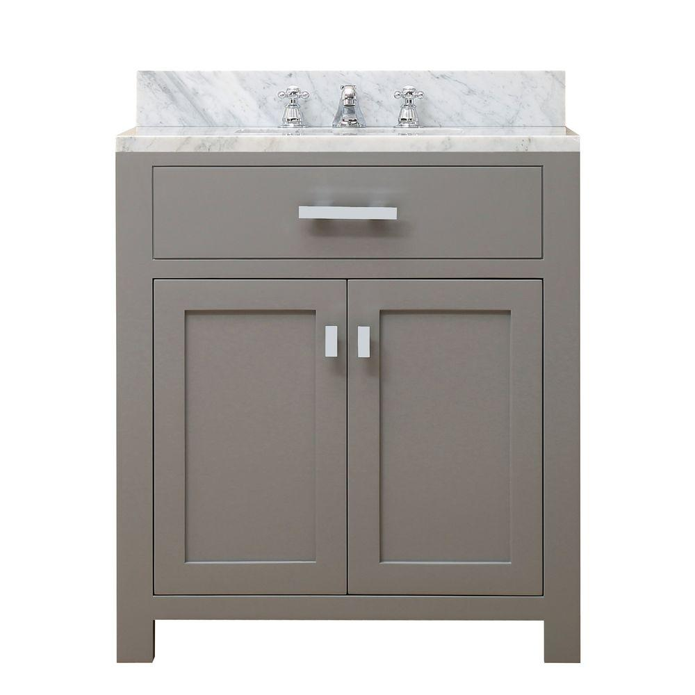 Water Creation 30 In W X 21 In D X 34 In H Vanity In Cashmere