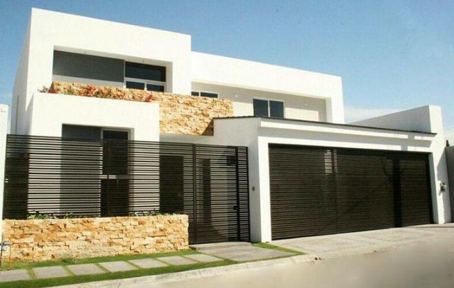Ver Frentes De Casas Modernas Fachadas De Casas Modernas Rejas Para Casas Casas Modernas