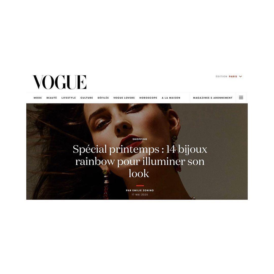 🌈 Rainbow 🌈 Thx @bijoux_marie & @emiliezonino d'avoir inclus un collier @alexandraabramczykjewelery dans votre sélection pour @vogueparis 🌸 #representedbymyrenedepremonville #pragency #paris #press #vogue #bijou #bijoux #jewel #jewels #jewelry #jewellery #jewelryaddict #jewelrydesigner