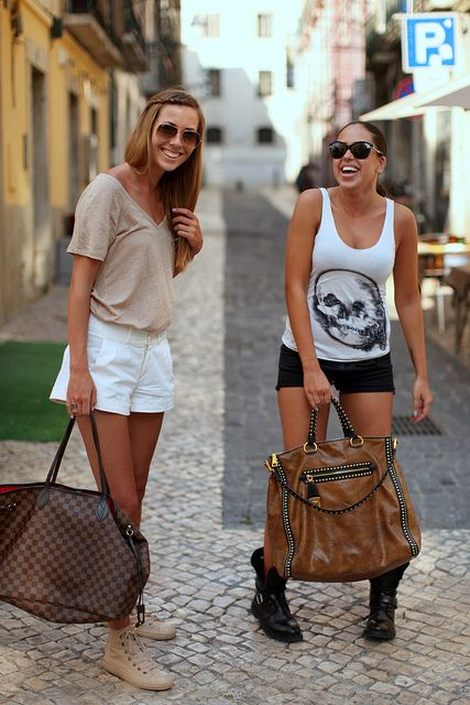 Shorts & bags (South African girls) by oalfaiatelisboeta, via Flickr