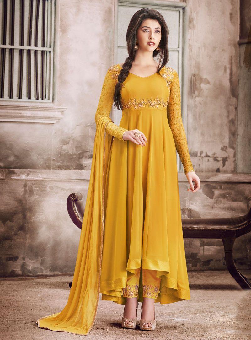 99722b92a78 Mustard Georgette Anarkali Suit 90675 https   www.shopify.com