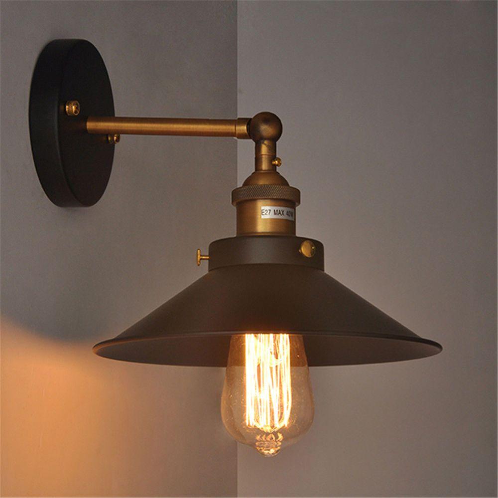 Vintage Style Wall Lamp Adjustable Retro Loft Wall Fixture Swing