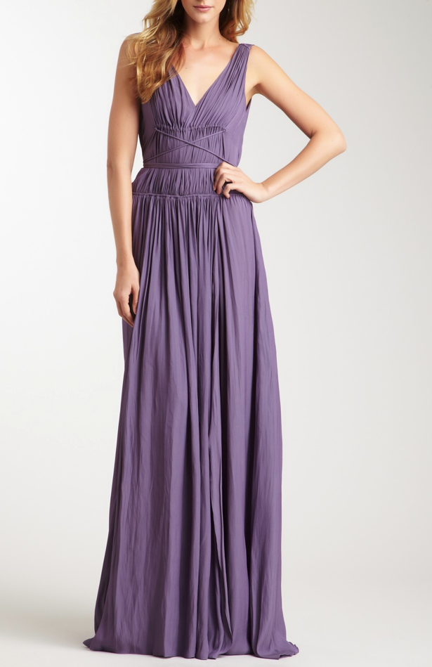 Grecian Maxi Gown in Lavender / Boss Black | Style | Pinterest ...