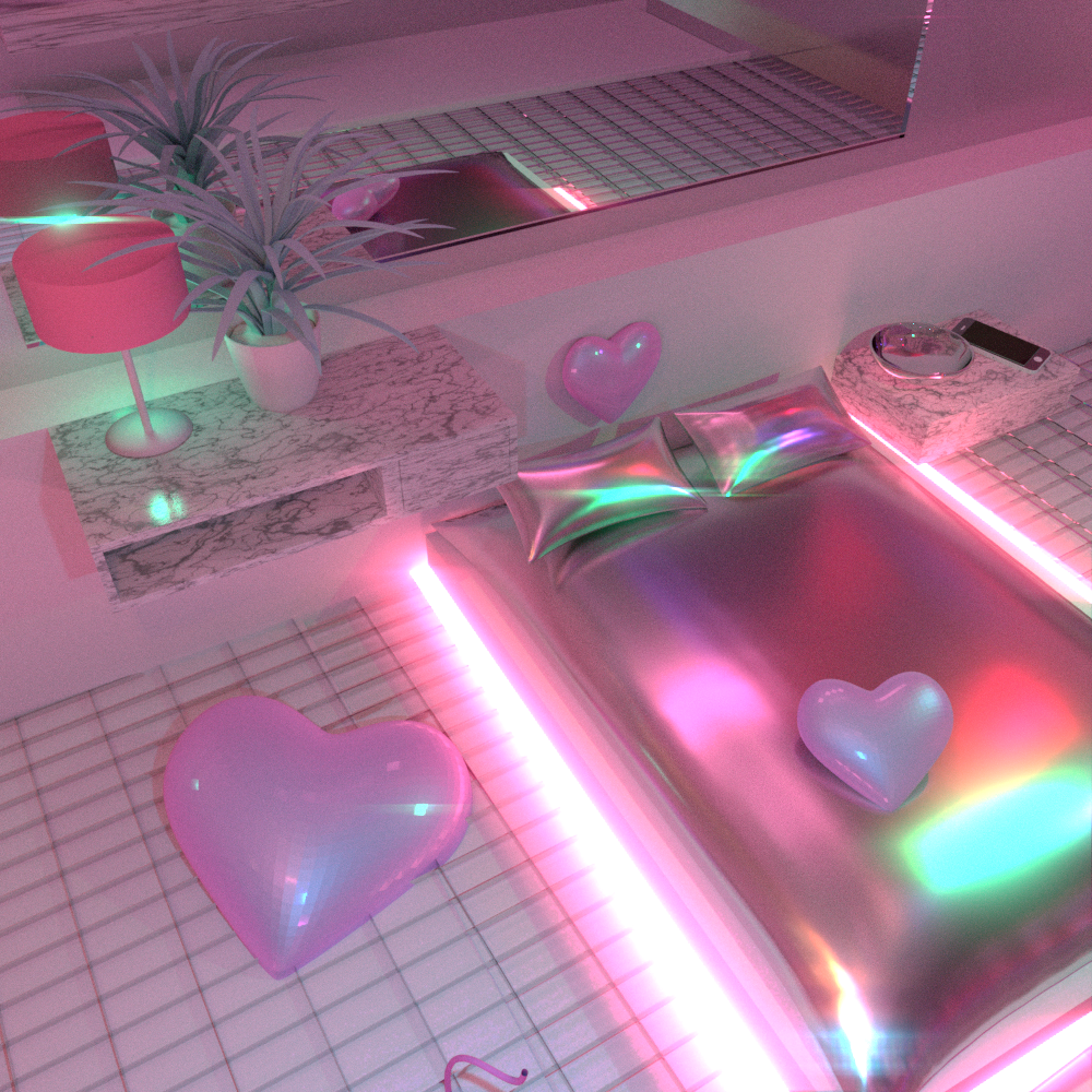 Room With Nothing In It: Vaporwave Room: Will We Ever Feel Nothing //