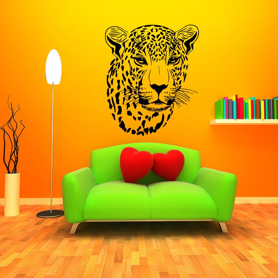 African Style Home Decoration Wall Murals Cheetah Head Patterned Art ...