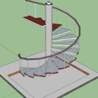 Best 3D Spiral Staircase Skp Sketchup 3D Stairways Escadas 400 x 300