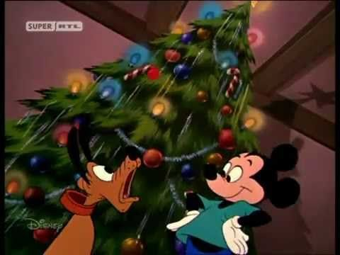 mickey maus und plutos weihnachtsbaum advent weihnachten. Black Bedroom Furniture Sets. Home Design Ideas