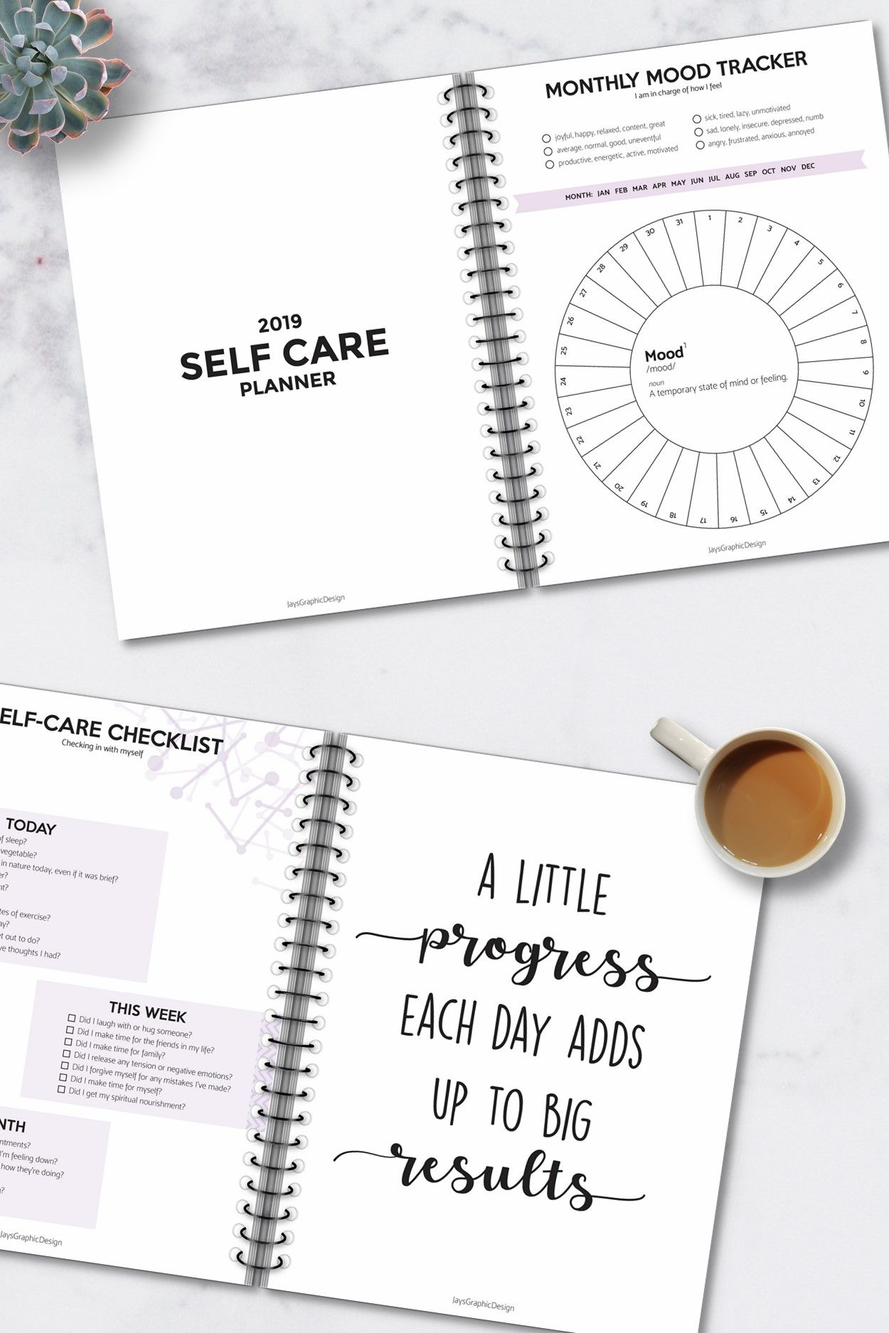 This Instant Printable Self Care Planner Is Beautifully